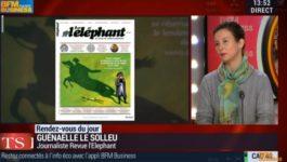 Guénaëlle Le Solleu, rédactrice de l'éléphant invitée sur BFM Business